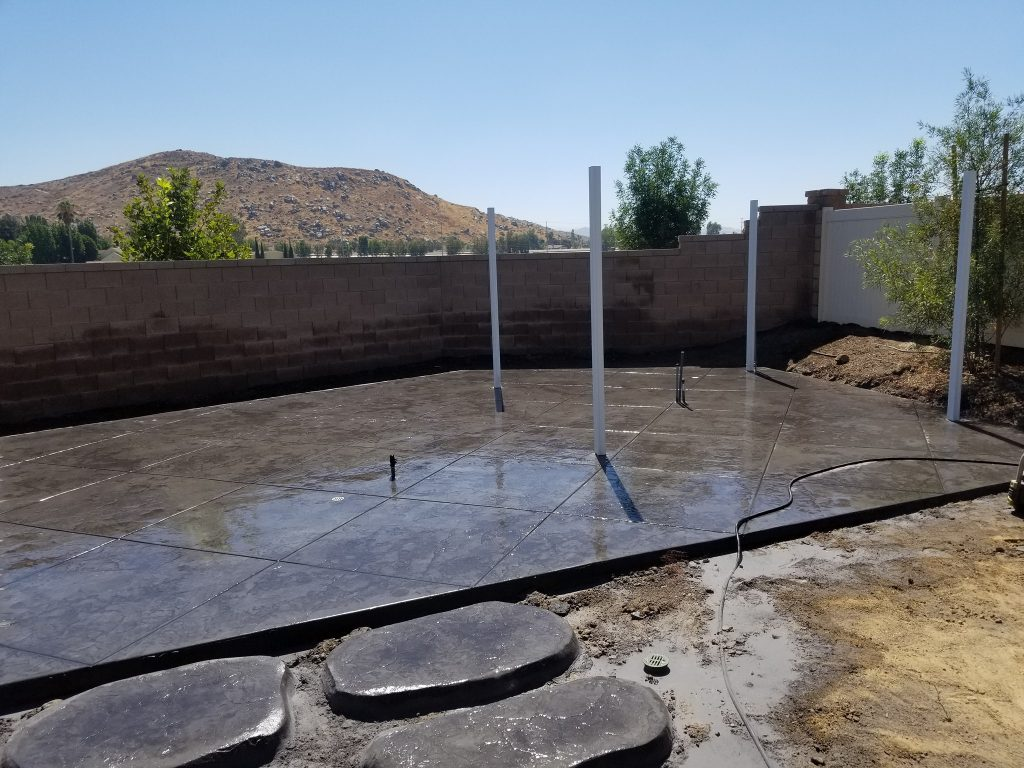 Stamped concrete patio in Vacaville ca
